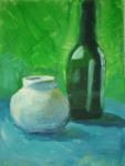 Stillleben mit Flasche No. 1